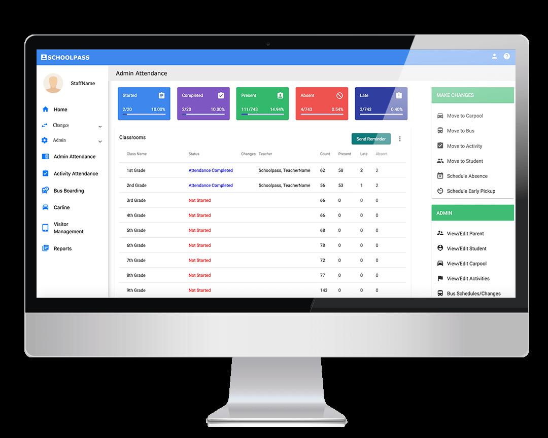 School Admin Attendance Tracking Dashboard