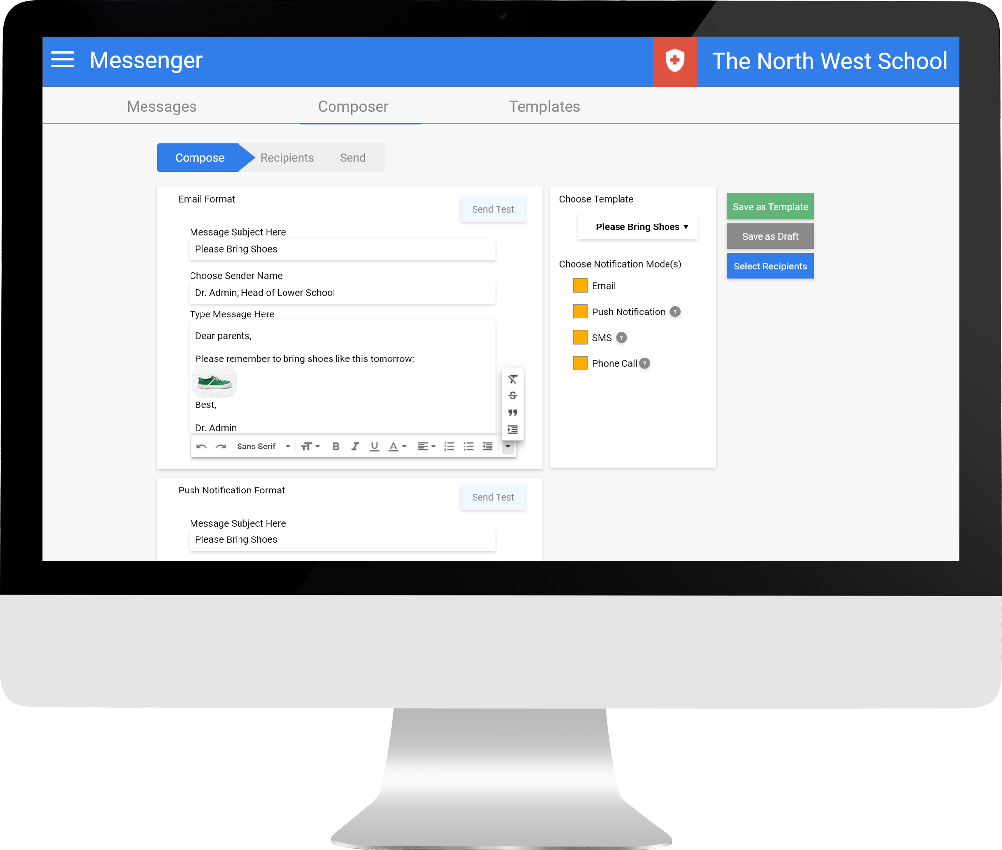 Mass messaging and notifications